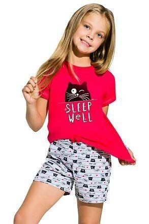 Dívčí pyžamo Hanička malinové