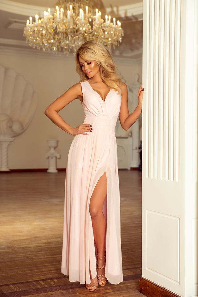 Dámské šaty 166-4 - M - broskvová