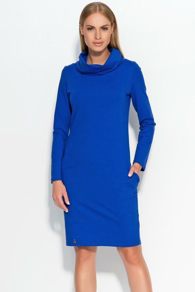 Dámské šaty Makadamia M331 - 42 - modrofialová