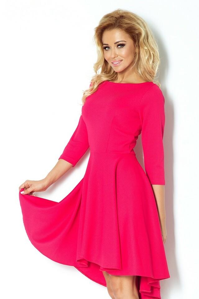 Dámské šaty s 3/4 rukávy 90-2 - Numoco - XL - růžová