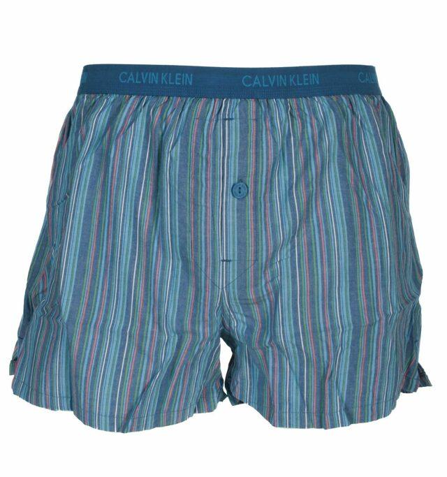 Pánské boxerky U1513A - Calvin Klein - XL - modrá-proužek