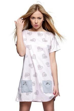 Noční košile Elisa růžová - L