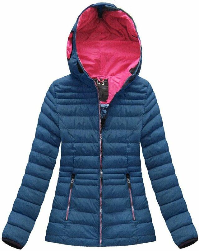 Tmavě modrá dámská zimní bunda s brýlemi (CX582W)