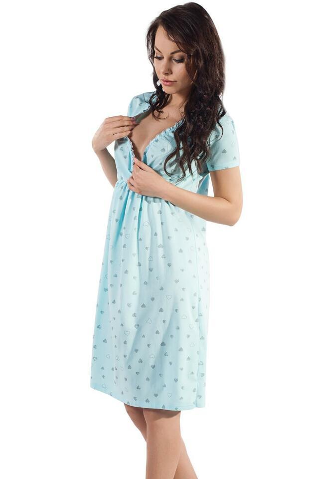 Noční košile Italian Fashion Celia kr.r. - L - růžová