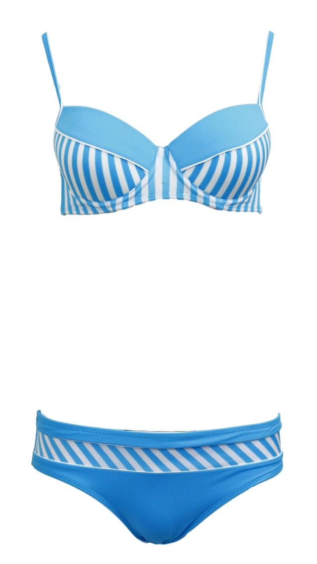 Dámské plavky dvoudílné Brooke M-225 - Marko - S - modro-bílá
