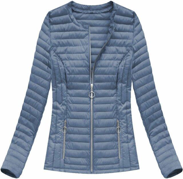Modrá dámská prošívaná bunda (21817) - 48 - modrá