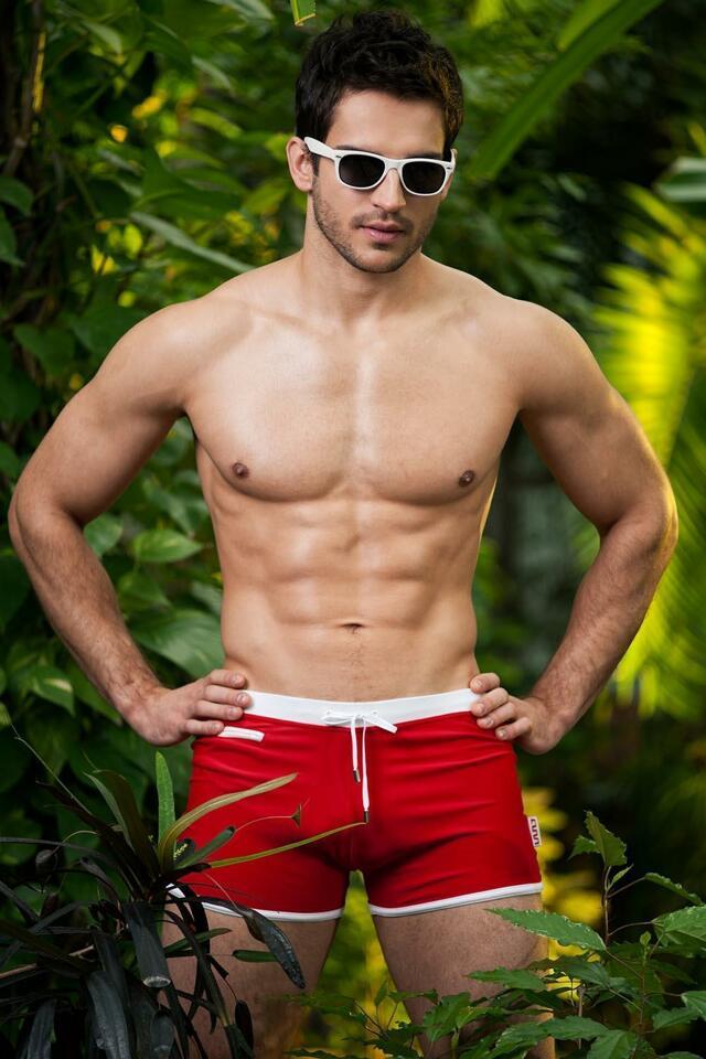 Pánské plavky Alpha Male Verso red