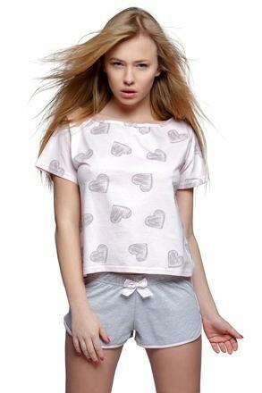 Dámské pyžamo Lara růžové - S