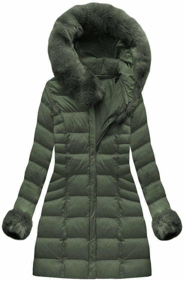 Zelená dámská zimní bunda (W751BIG) - 46 - zelená
