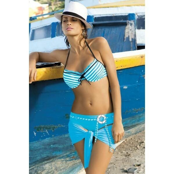 Dámské plavky Monica M149 - Verano - 38 - bílo/sv.modrá