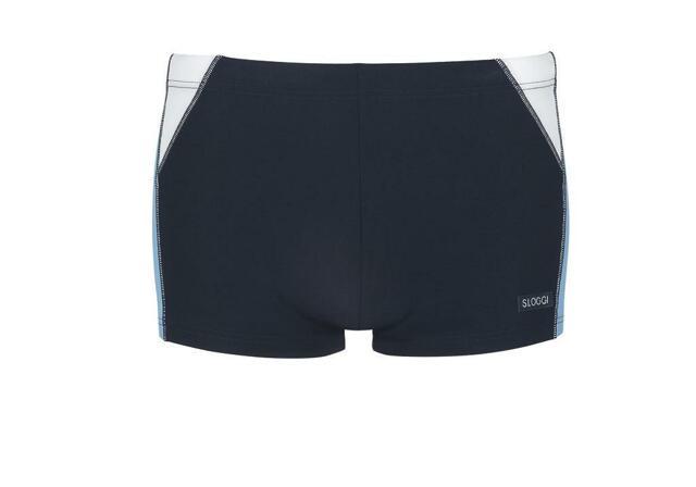 Pánské plavky Sloggi Swim Blue Flame Short - 008 - světlá kombinace modré (M007)