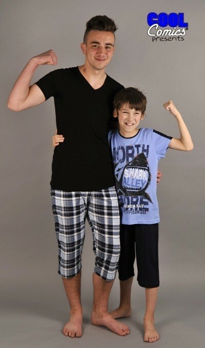 Pánské pyžamové kapri kalhoty Ondřej