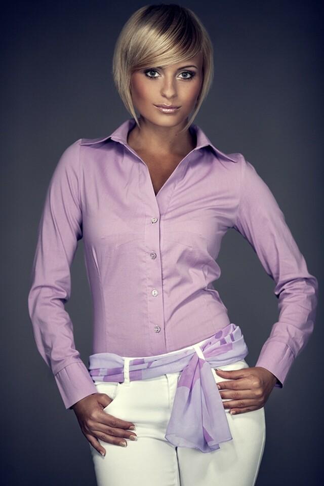 Dámská košile M021 violet - M - fialová