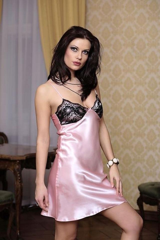 Dámská košilka Agnes pink - S - růžová