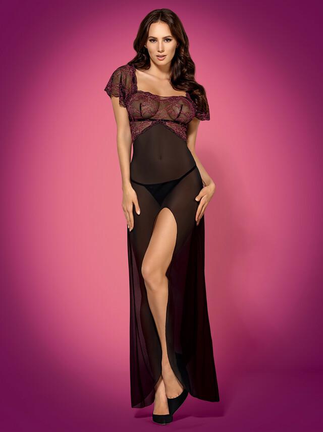 Župan Sedusia gown - Obsessive - S/M - černá