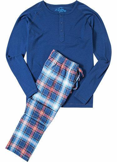 Pánské pyžamo 550010 - Jockey - 3XL - tm.modrá