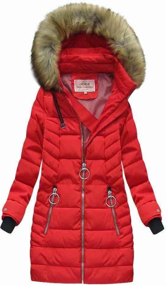 Červená dámská zimní bunda (W721-2) - S (36) - červená