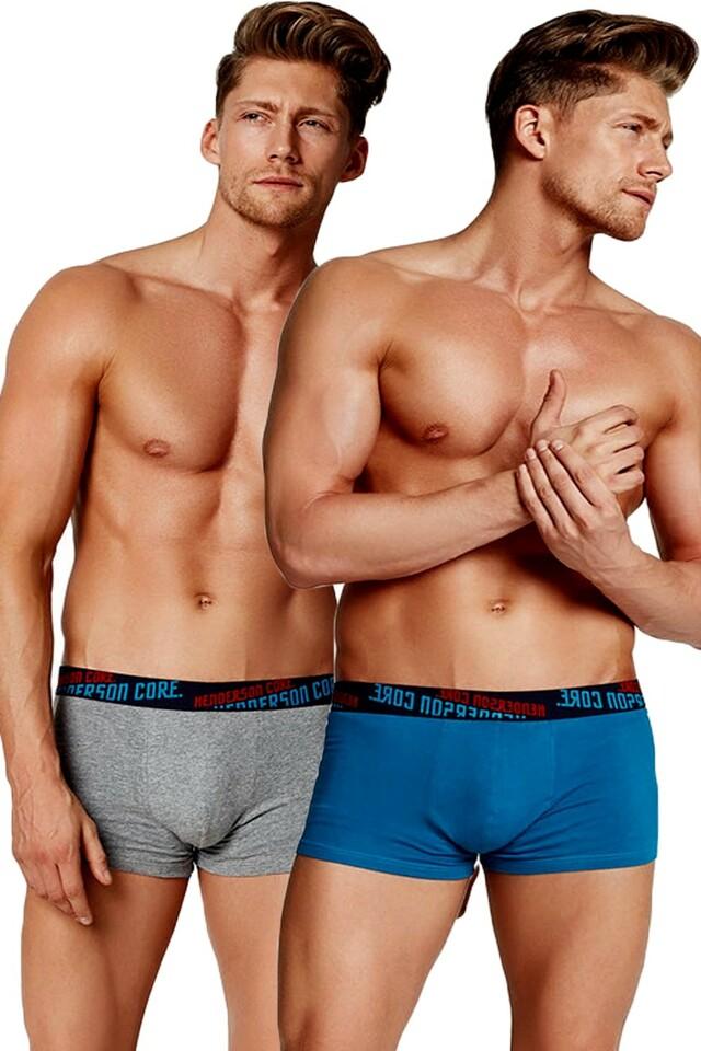 2pack pánských boxerek 34945 turquoise-grey