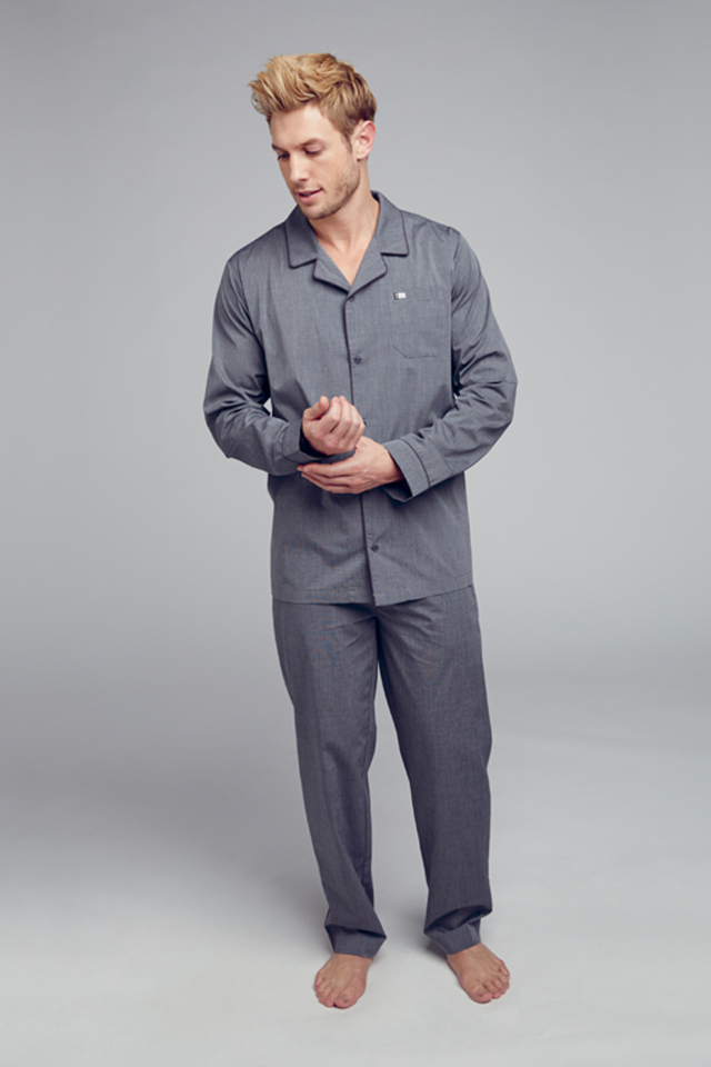 Pánské pyžamo 500331 - Jockey - XXL - šedá