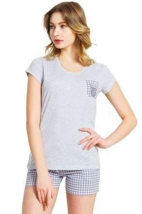 Dámské pyžamo Heather šedé - S