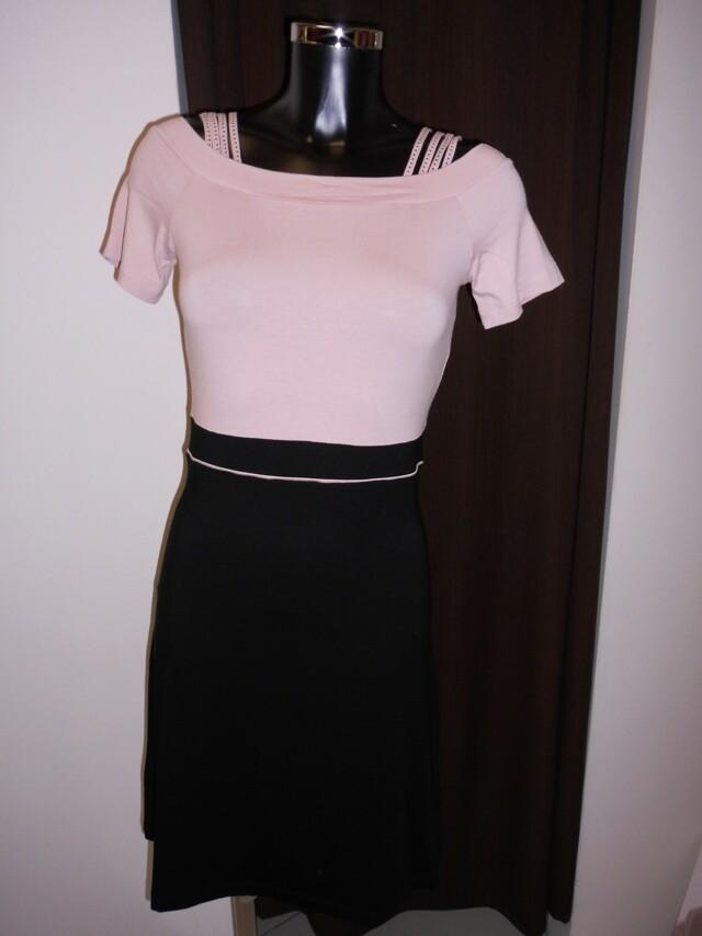 Dámské šaty Alania šat KR 0532J SW - Favab - L - černo-růžová