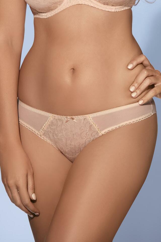 Kalhotky string Ava 1209/S - XL - béžová