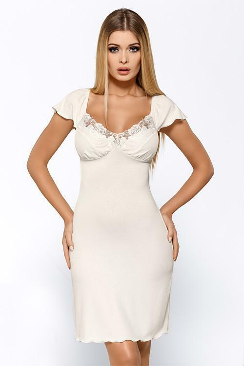 Noční košilka Hamana Salomea ecru - XL - krémová