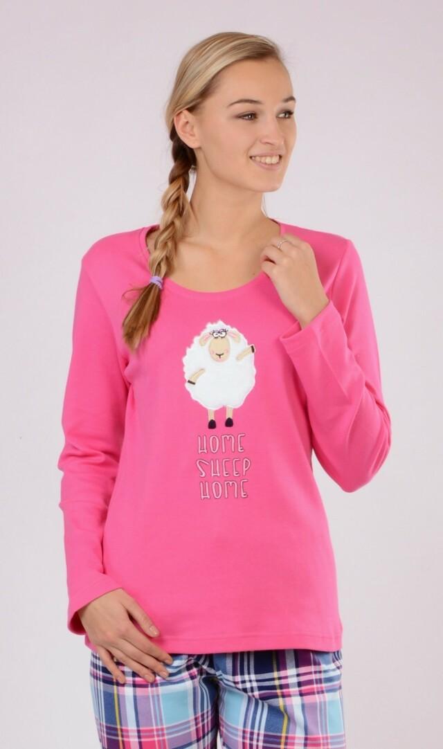 Dámské pyžamo dlouhé Malá ovce - tyrkysová L