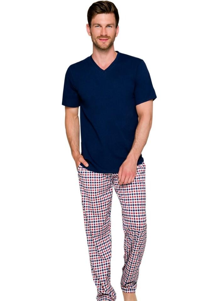 Pánské pyžamo Adam 2131 - XL - tmavě modrá