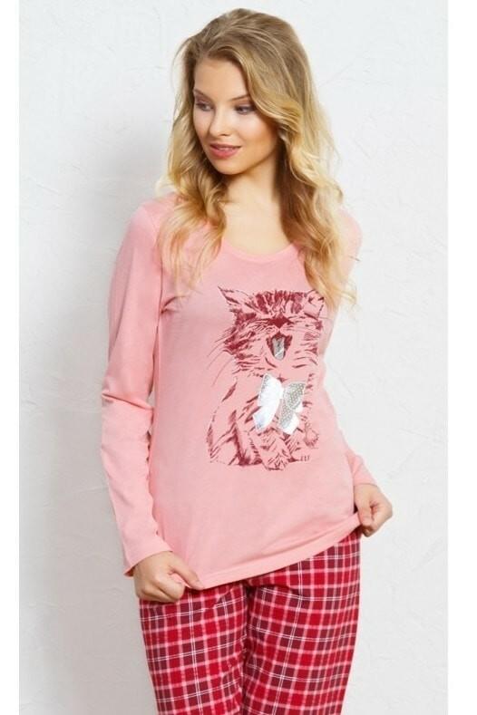 Dámské pyžamo 2054 Kotě - Vienetta - S - staro růžová