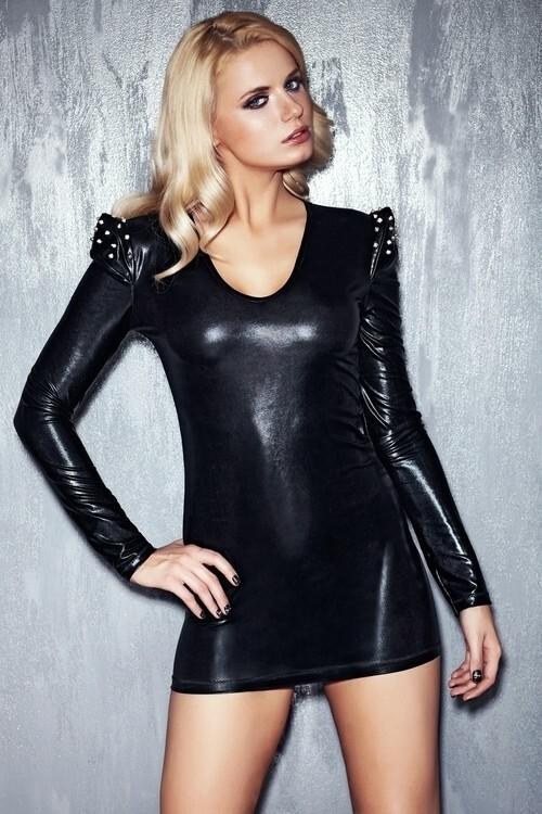 Erotické šaty Brandy - L - černá