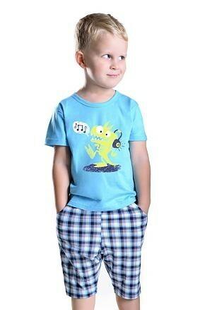 Chlapecké pyžamo s drakem Julek modré - 128