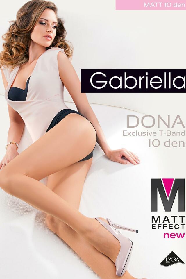 Punčochové kalhoty Gabriella Dona Matt 10 Den Code 712 - 2-S - nero