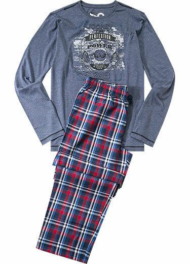 Pánské pyžamo 52262 - Jockey - 2XL - jeans