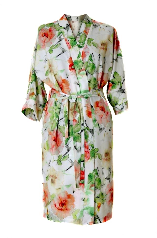 Dámský župan Kimono Ellie 1554 0001 - Vestis - M - květinový vzor