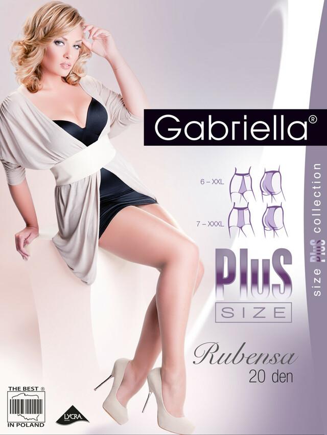 Punčochové kalhoty Gabriella Rubensa Plus Size 161 6-7 20 den - 7-XXXL - caramel/odstín béžové