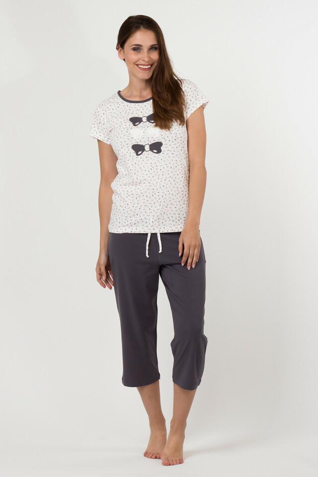 Dámské pyžamo 5013 - Cotton Candy - XL - šedá