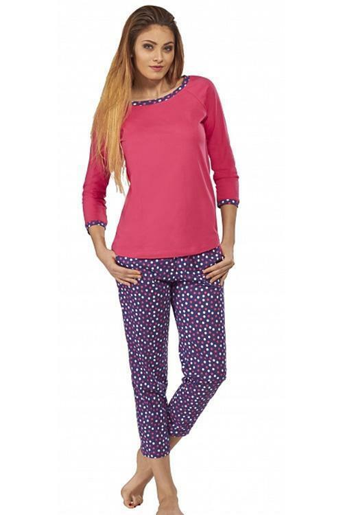 Dámské pyžamo Luna 502-1 - M - amarantová