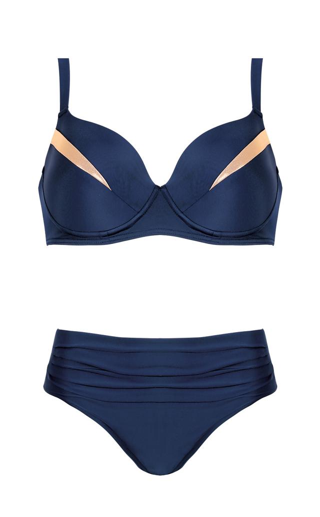 Dvoudílné dámské plavky Self S 940 ZP - 42I-XL - tmavě modrá