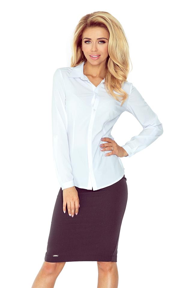 Bílá košile s knoflíky MM 017-2