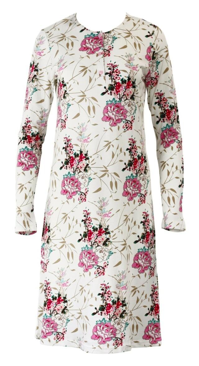 Dámská noční košile SAB 22805 - Sabrina - XL - bílá s květinovým vzorem