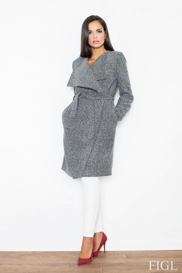 Dámský kabát M408 grey - M - šedá