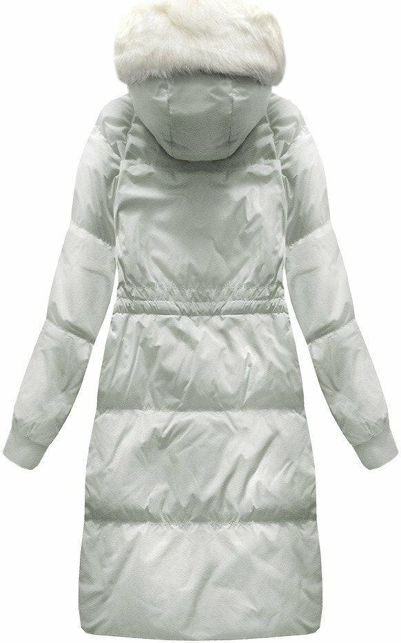 Šedý dámský zimní kabát (17117) - L (40) - šedá