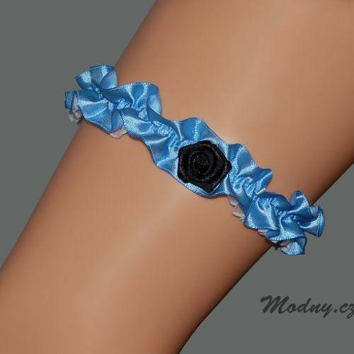 Dámský podvazek 634o - Marilyn - uni - modrá 2760465028