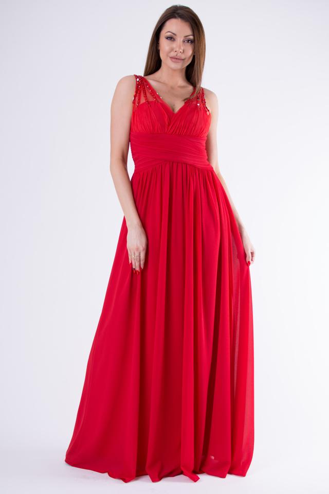 f37b91bfb1b1 Červené šaty EVA   LOLA 58003-3 - L