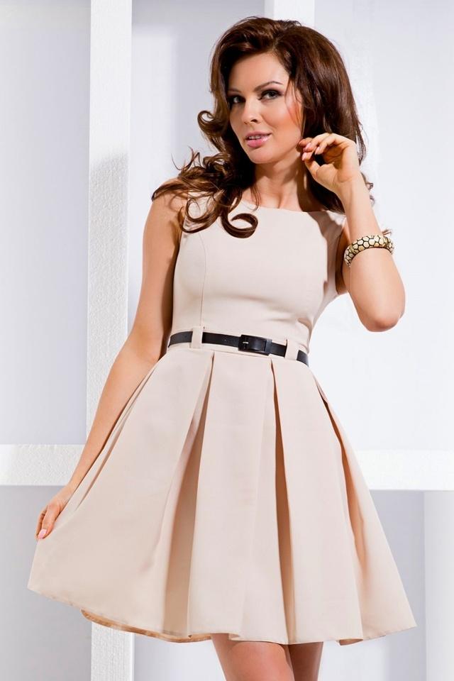 Dámské šaty 6-1 - L - béžová