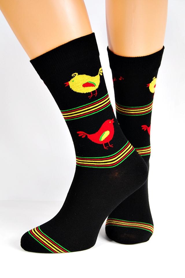Pánské ponožky Regina Socks 7844 Avangarda Slepice - 43-46 - sv.šedá