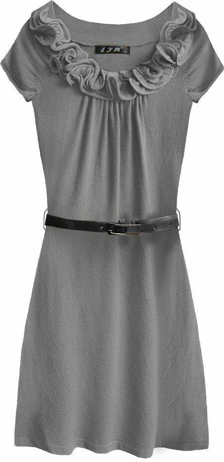 8c647fa85541 Šedé dámské svetříkové mini šaty (1520) - L (40) - šedá