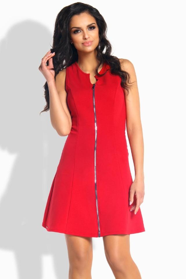 Dámské šaty L183 - Lemoniade - M - červená