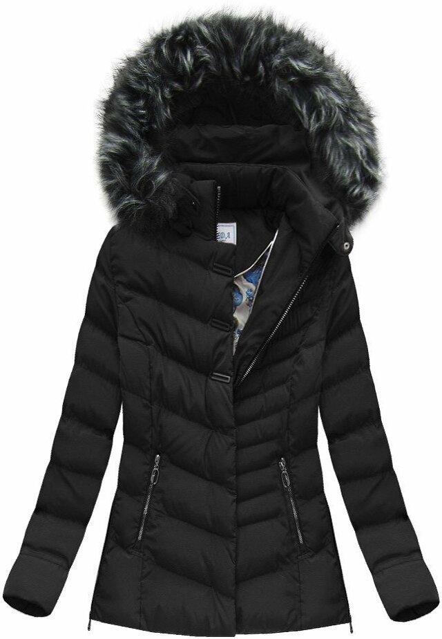 Černá dámská zimní bunda (W583) - S (36) - černá